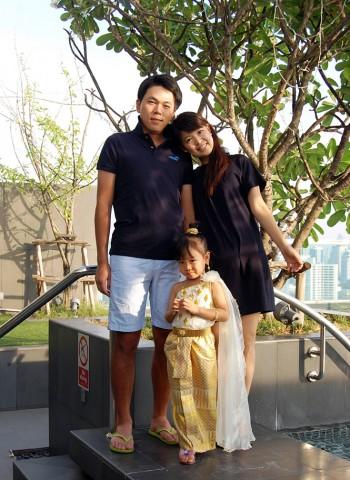 平井千智さんとそのご家族