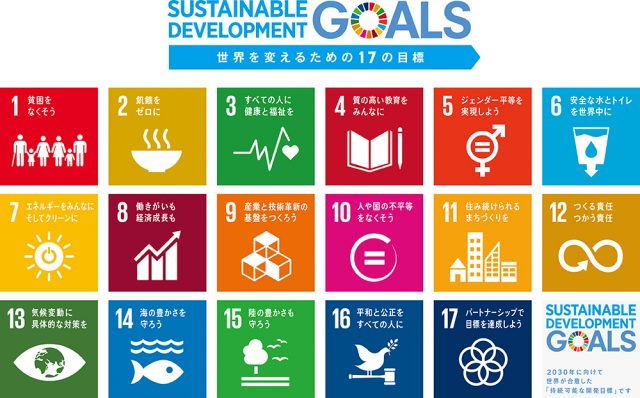 SDGs17の目標アイコン