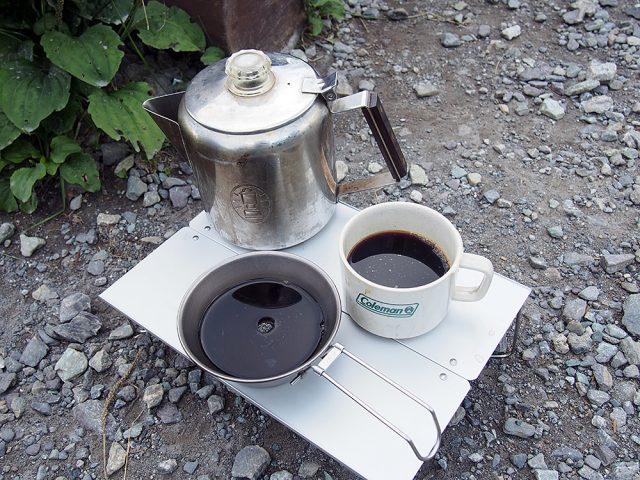 アウトドアコーヒー完成